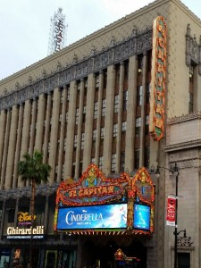 Front of El Capitan Theater