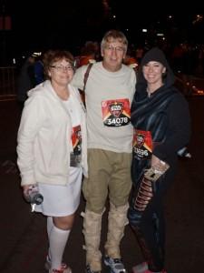Debbie (Leia), Melvin (Luke on Dagobah), Bekah (Kylo Ren).