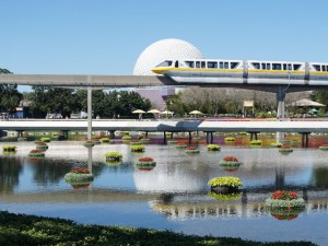 Walt Disney World Monorail During the Flower & Garden Festival