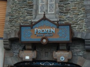 Entrance to Frozen Ever After in the Norway Pavilion